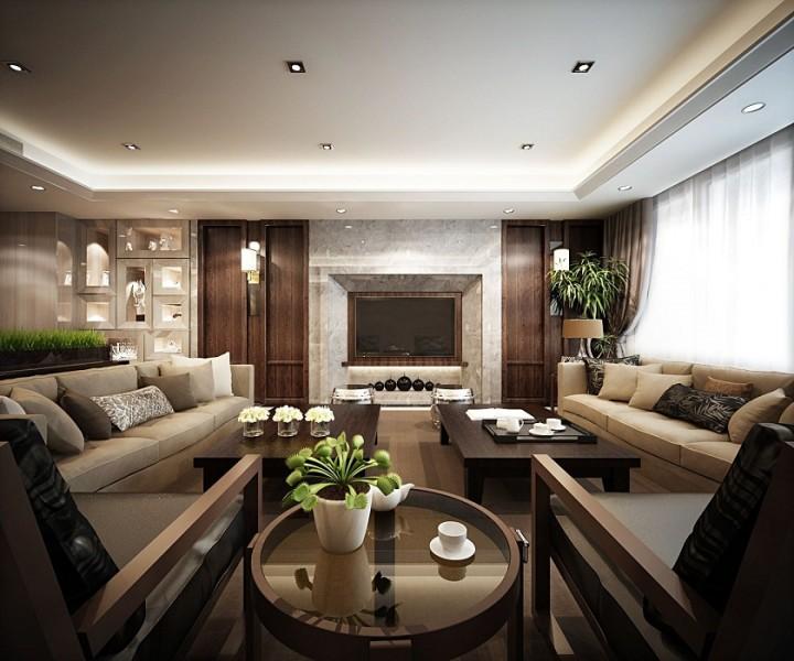 成都弗客城小区-欧式简约风格家庭装修设计