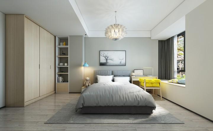 203平米现代简约风格四居室装修案例效果图