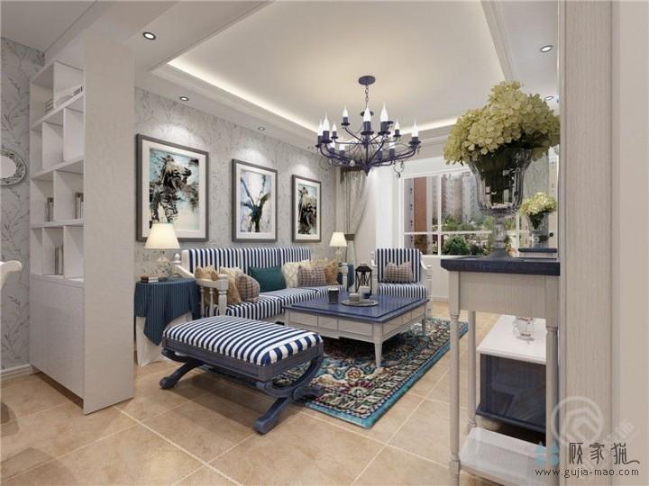 正荣财富中心 地中海风格三居室装修设计