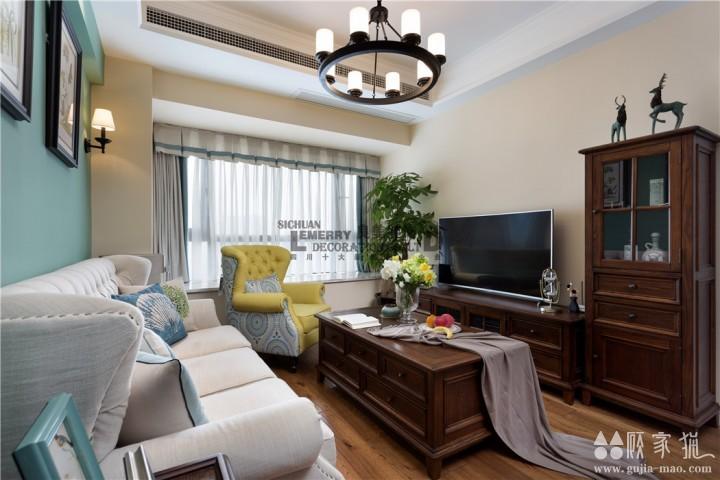 城置尚豪庭简美风格三房装修设计  87平三房装修效果图
