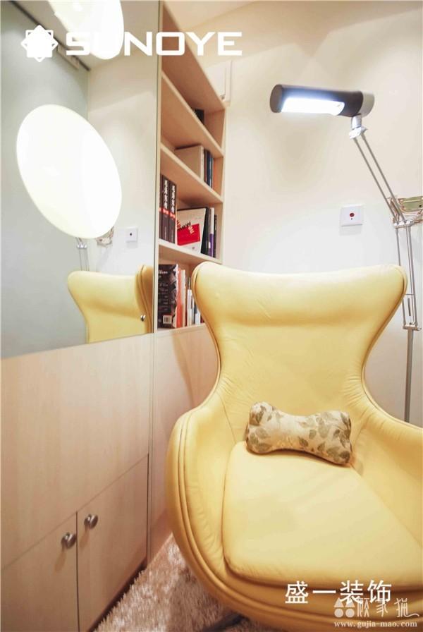 87平米清新绚烂一居室装修设计效果图