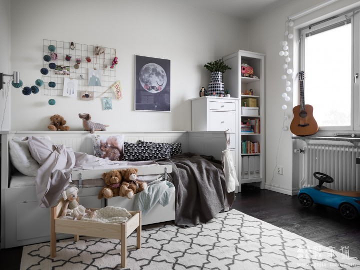 蓝色系北欧风格家庭装修设计  北欧风格家装效果图欣赏
