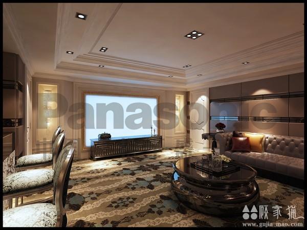 紫汀苑法式风格装修案例   法式风格家庭装修效果图