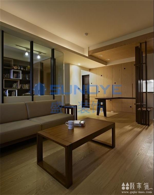 100平米三居室日式简约风格装修实景案例
