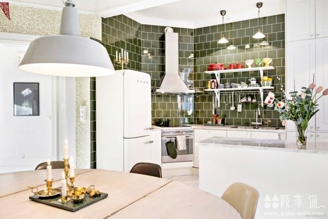 88平米复古田园北欧风格公寓装修设计案例