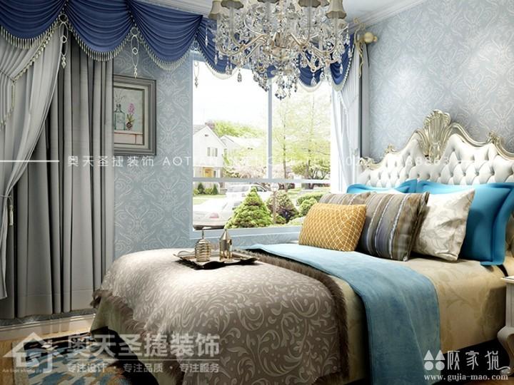 和泓四季恋城-90㎡美式风格家庭装修设计