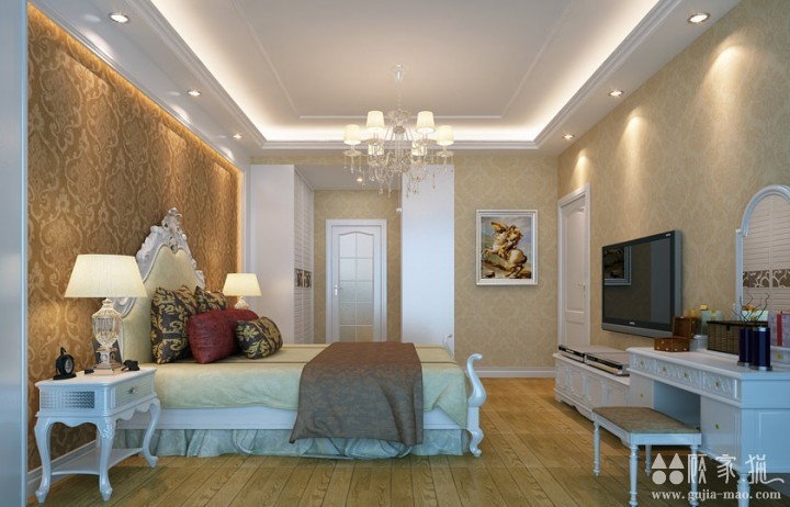 华润中央公园-欧式风格家庭装修设计效果图