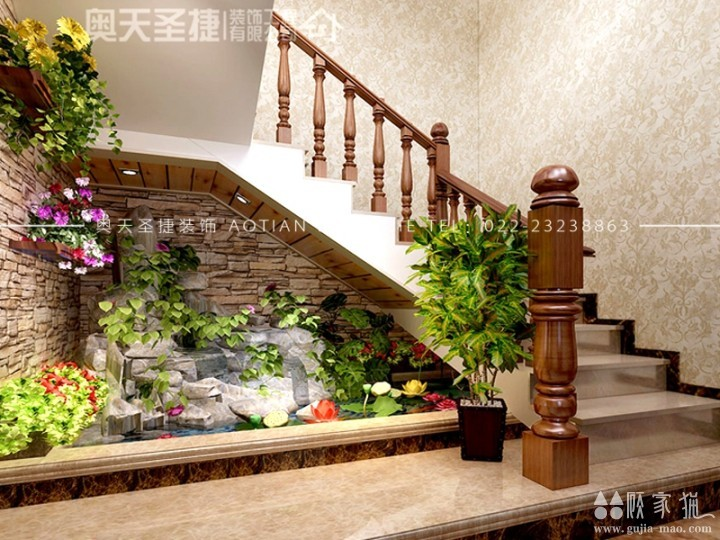 博文苑380㎡中式风格别墅装修设计案例