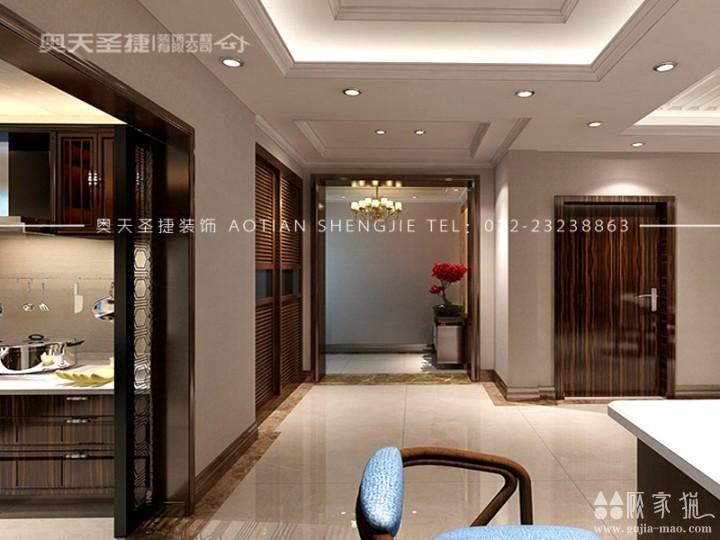 国耀紫溪-217㎡新中式风格装修设计案例