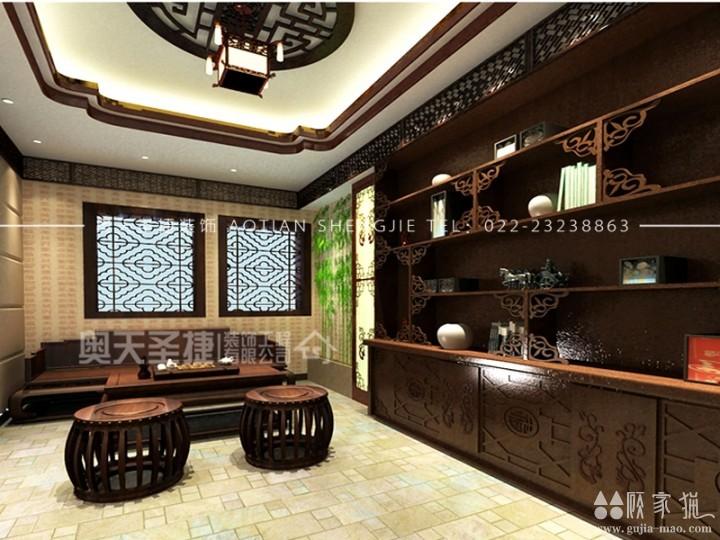 柴楼新庄园200㎡中式风格家庭装修设计