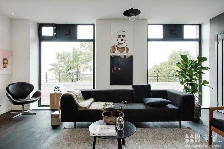 64平米开放灰色北欧风格公寓装修设计