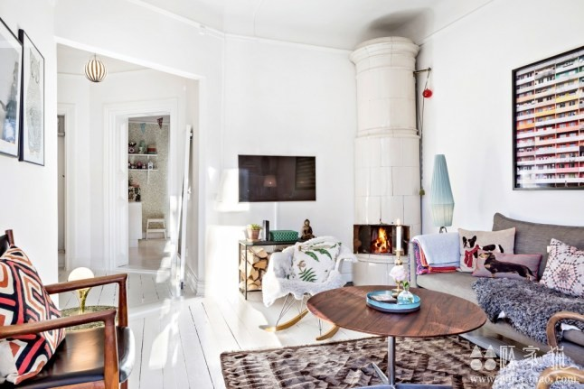 88平米复古田园北欧公寓装修  北欧风格家庭装修效果图