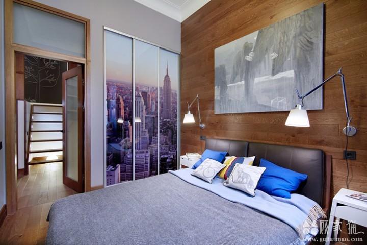 67平米工业风Loft公寓装修设计  工业风家庭装修效果图