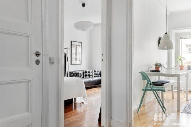 36平米舒适精致北欧风格装修 单身公寓装修设计