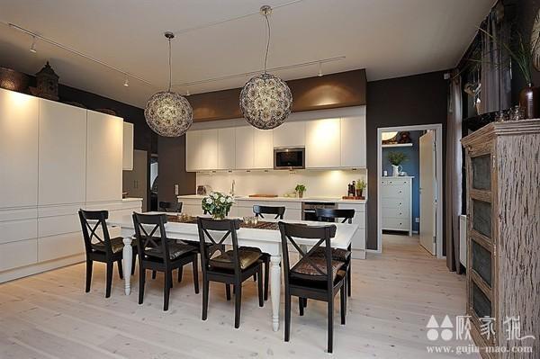 低调奢华的迷人北欧公寓  北欧风小户型装修设计效果图