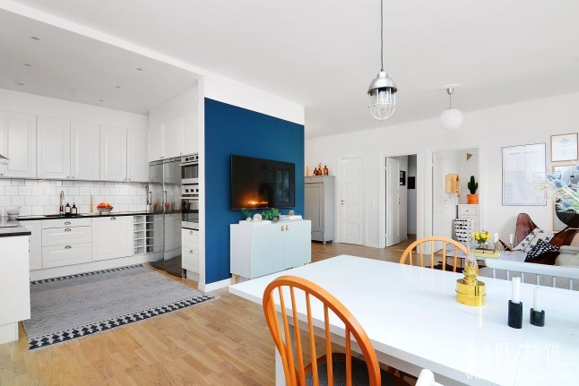 79平米清新北欧公寓装修设计  北欧风格家装效果图
