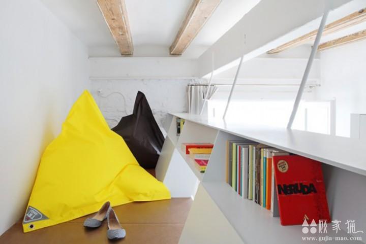 白色现代风格长形公寓装修设计  现代风格家庭装修案例