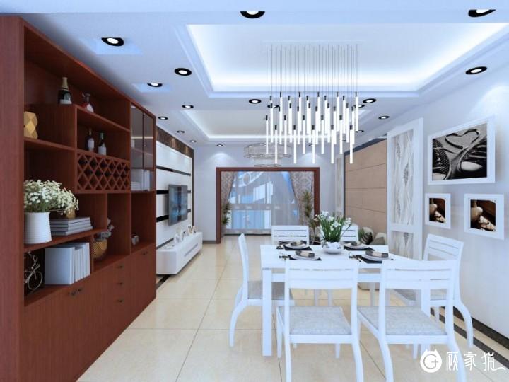 水韵天颐小区家庭装修设计 现代风格家装效果图