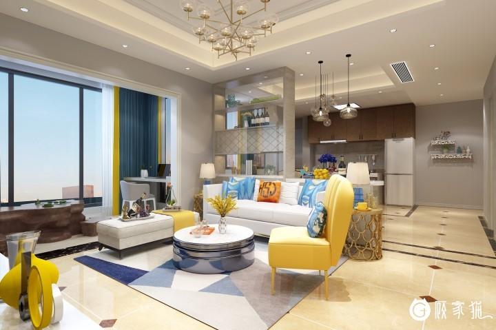 高庐文绍均家庭装修  现代简约风格家庭装修效果图