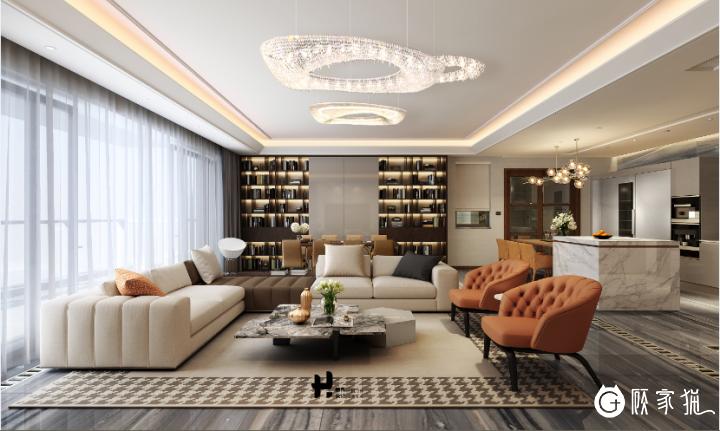 招商双玺私人豪宅设计 私人别墅装修设计效果图