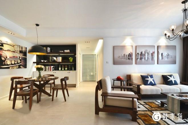 诺实装饰117平北欧风格两居室内装饰设计案例