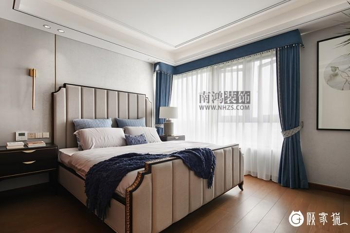 南鸿装饰雍城世家别墅室内装饰设计 新中式风格家装案例