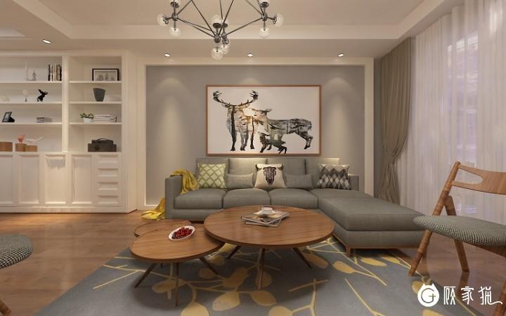 瀚林银座家庭装修  后现代风格家庭装修设计效果图