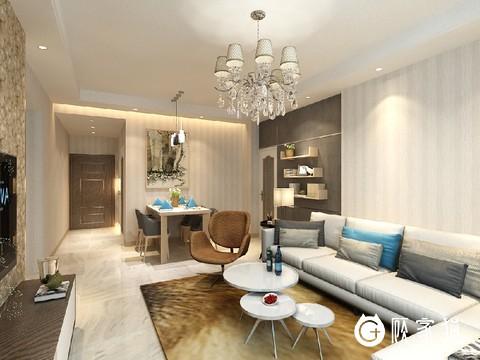 滨江俊园简约风格设计案例 昆明简约风格家庭装修效果图