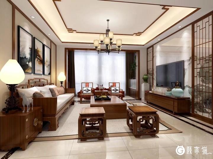 9.5万打造130㎡ 中式风格的家 成都四居室中式风格装修