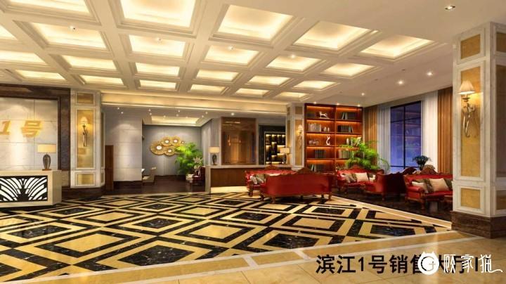滨江一号销售大厅装饰设计  销售大厅装修设计效果图