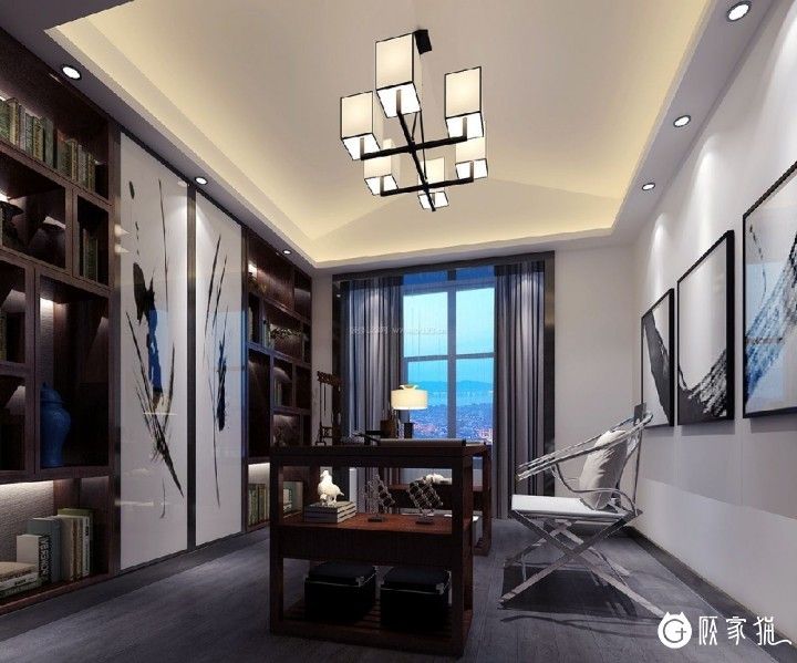82㎡三居现代简约装修设计图 天津现代简约风格三房装修效果图