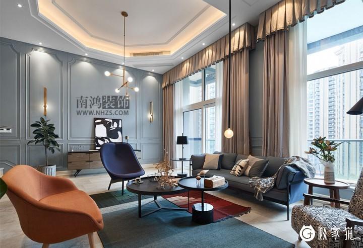 """""""红黄蓝""""的客厅不仅不妖艳,反而充满了创意与艺术"""