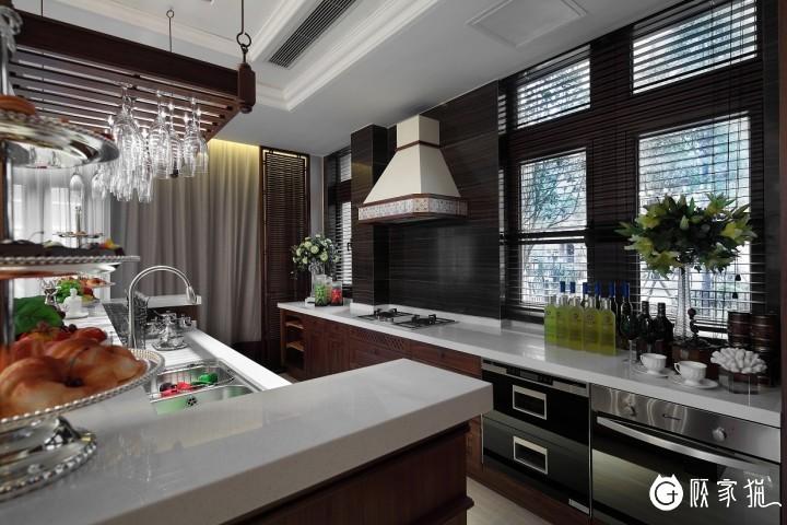 【中朗日盛装饰】3室2厅125平米美式风格装修设计效果图