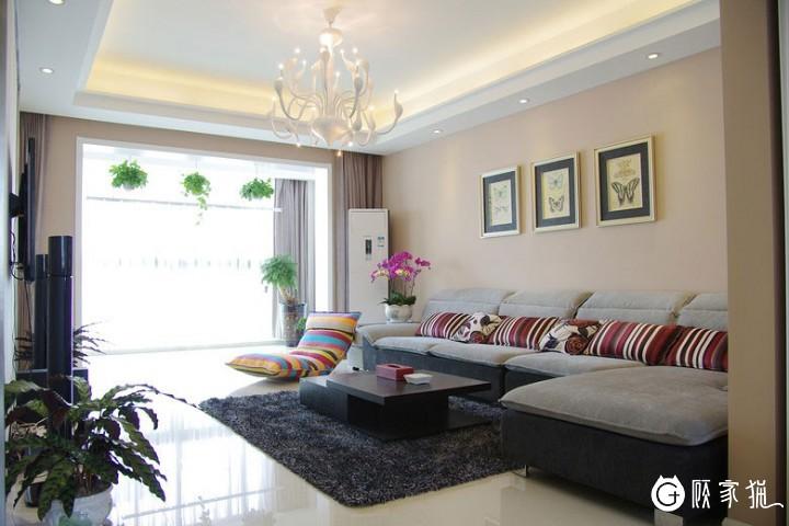 无锡3室2厅132平米现代风格家庭装修设计