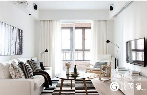 无锡两室两厅90.07平米现代风格装修设计案例