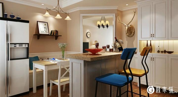 台州美式风格家庭装修设计效果图 美式装修设计案例