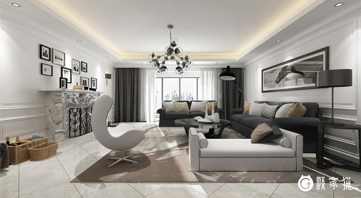 台州简欧风格家庭装修设计案例 简欧风格家装效果图欣赏