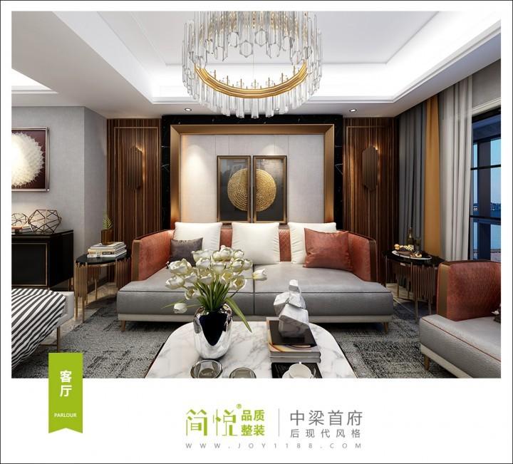 台州中梁首府 139平方后现代风格装修设计