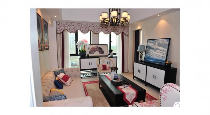 台州新中式风格家庭装修设计效果图 【简悦装饰】新中式装修案例