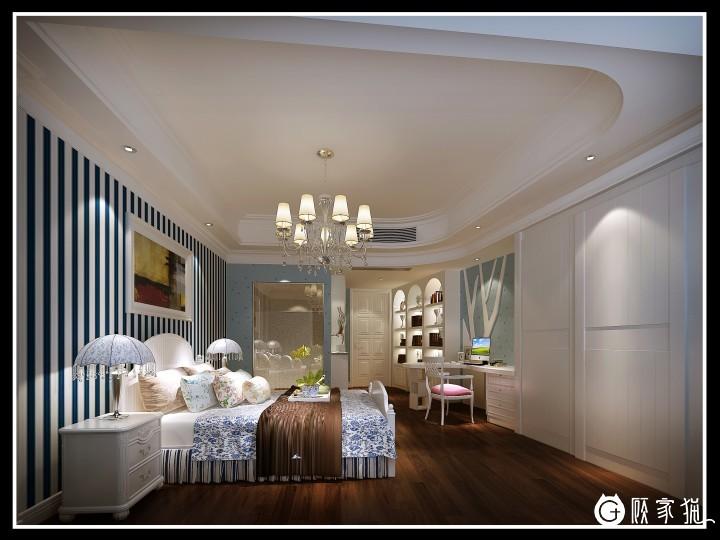 190平米美式经典套房装修设计效果图