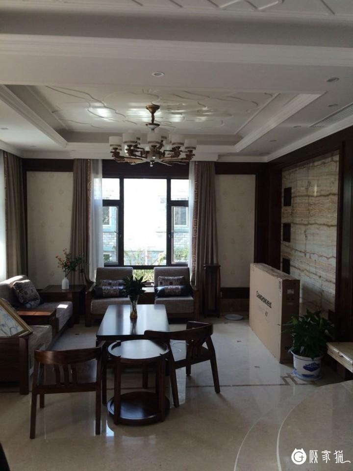 和谐家园530平米现代中式风格别墅装修设计案例