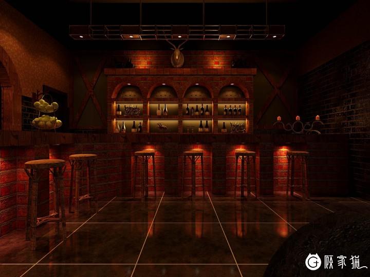 台州美式田园风格酒吧装修设计案例