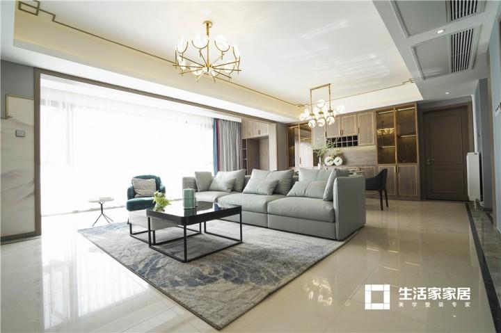 蓝光长岛国际140㎡新中式风格