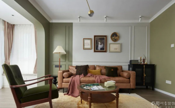 远大中央公园109平米三居室侘寂风格